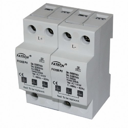 Type 1 surge protector for PV installation 500Vdc